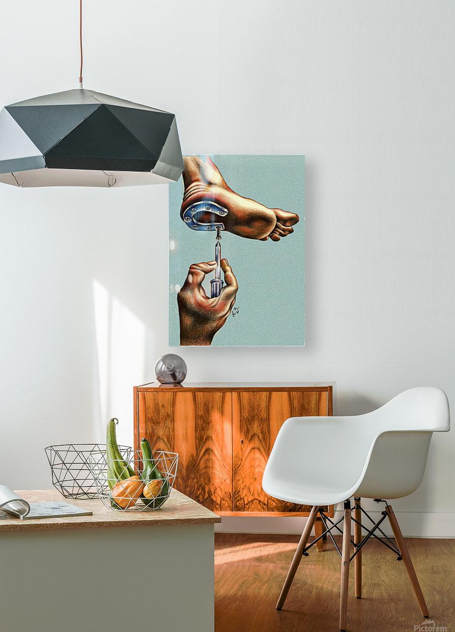 horseshoe  HD Metal print with Floating Frame on Back