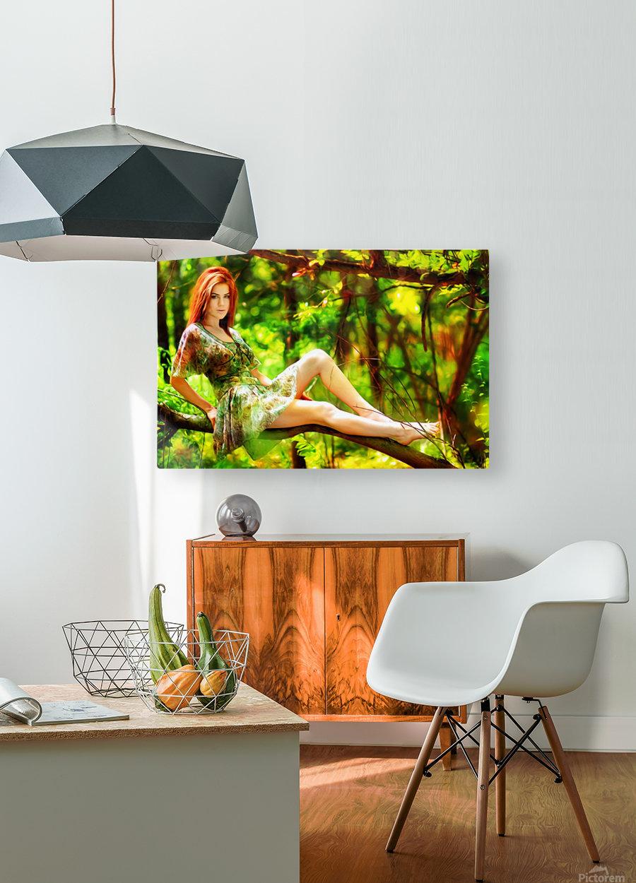 TREEgirl2  HD Metal print with Floating Frame on Back