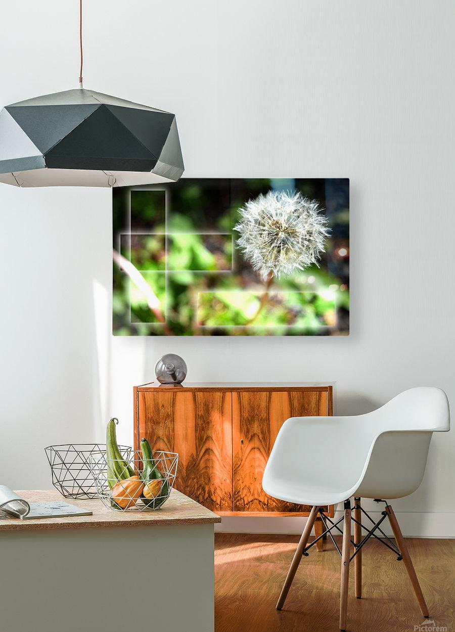 Fragile et résistante  HD Metal print with Floating Frame on Back