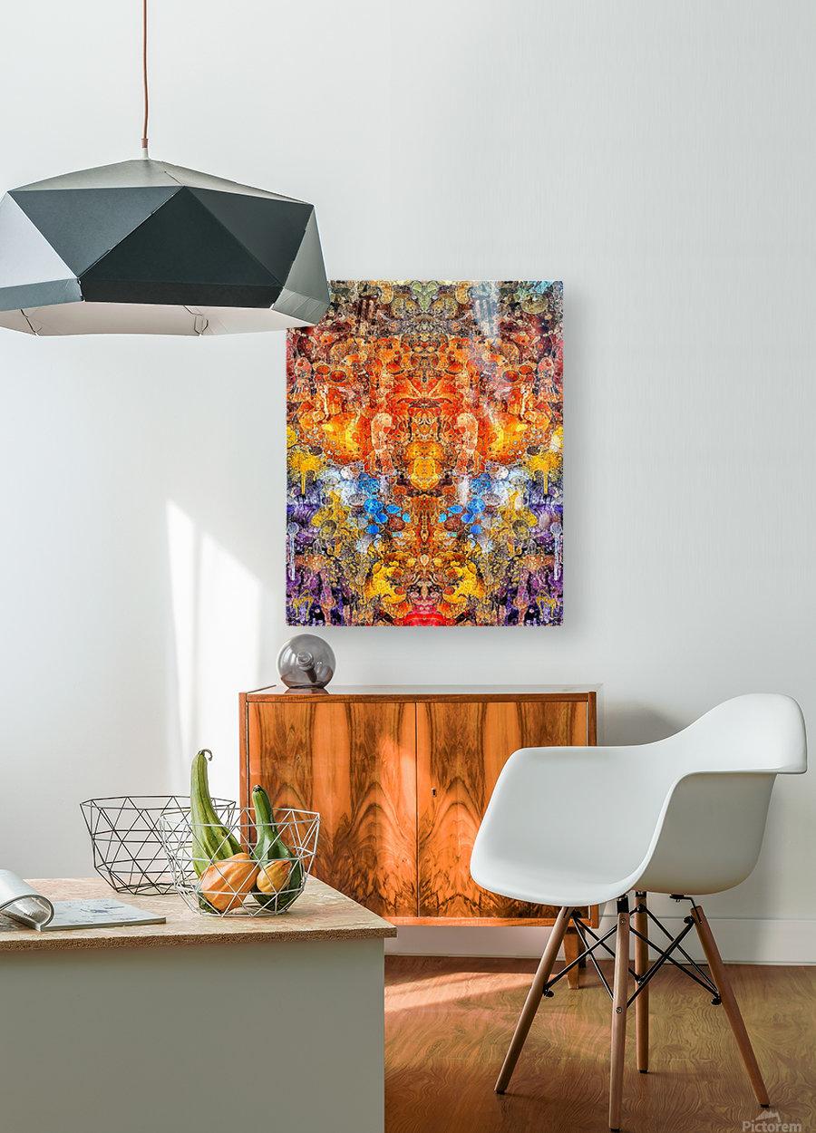 yorenge  HD Metal print with Floating Frame on Back