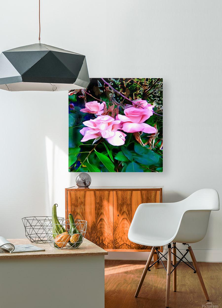 friendsFlower  HD Metal print with Floating Frame on Back