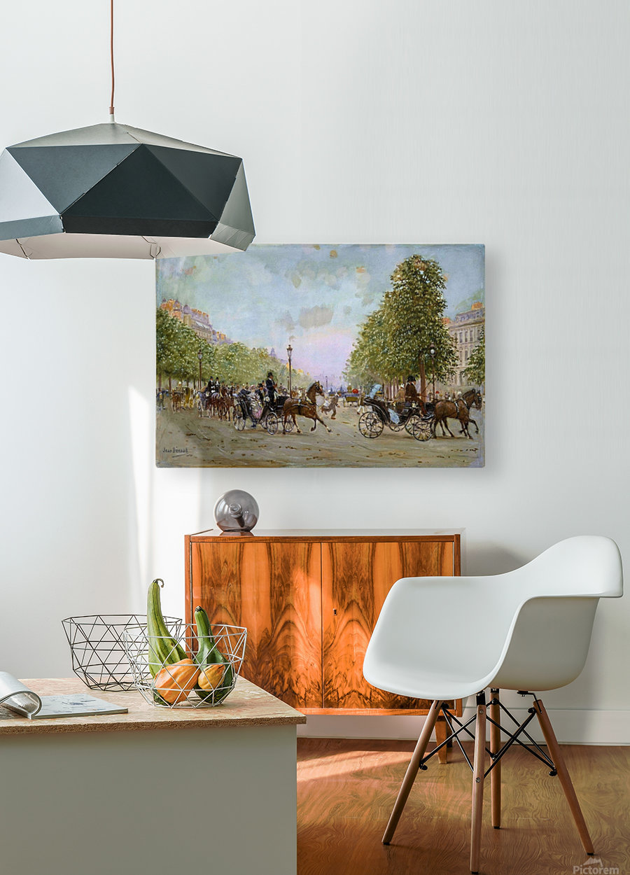 The Promenade on the Champs-Elysees  HD Metal print with Floating Frame on Back