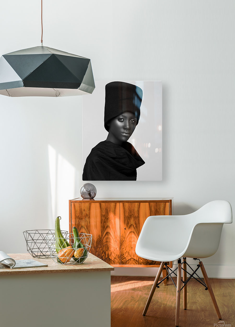 hat  HD Metal print with Floating Frame on Back
