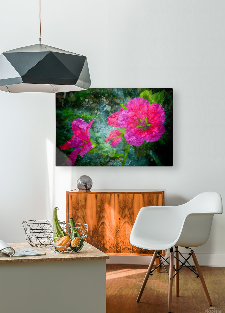 Fleurs d'artifices  HD Metal print with Floating Frame on Back