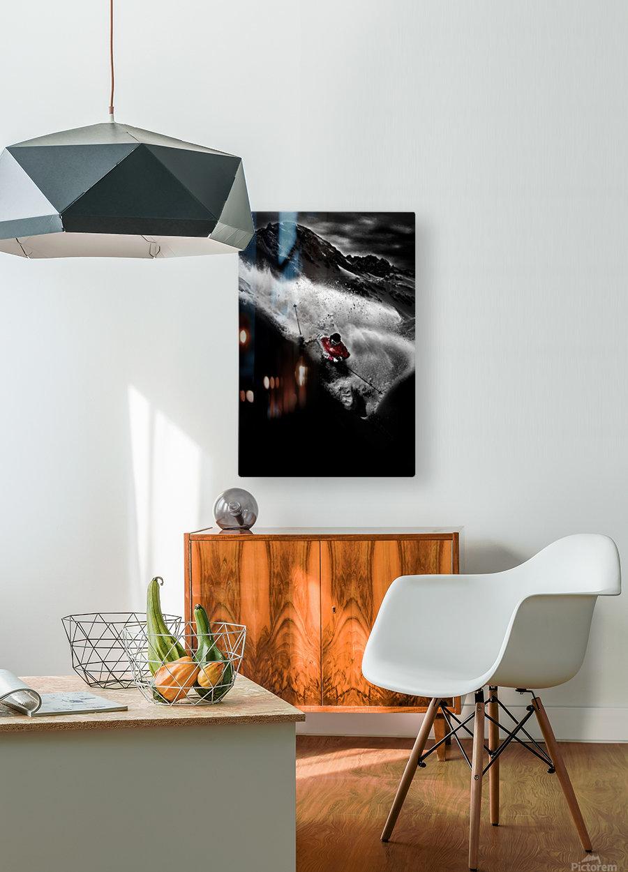 Dark Freeride  HD Metal print with Floating Frame on Back