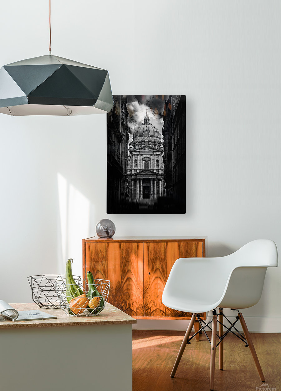 PARIS or ROMA   HD Metal print with Floating Frame on Back