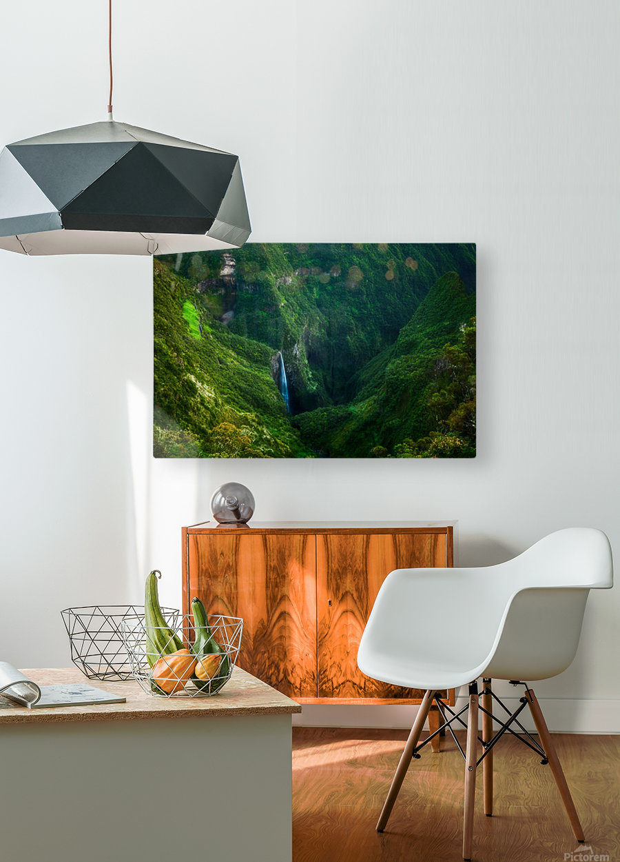 Trou de Fer  HD Metal print with Floating Frame on Back