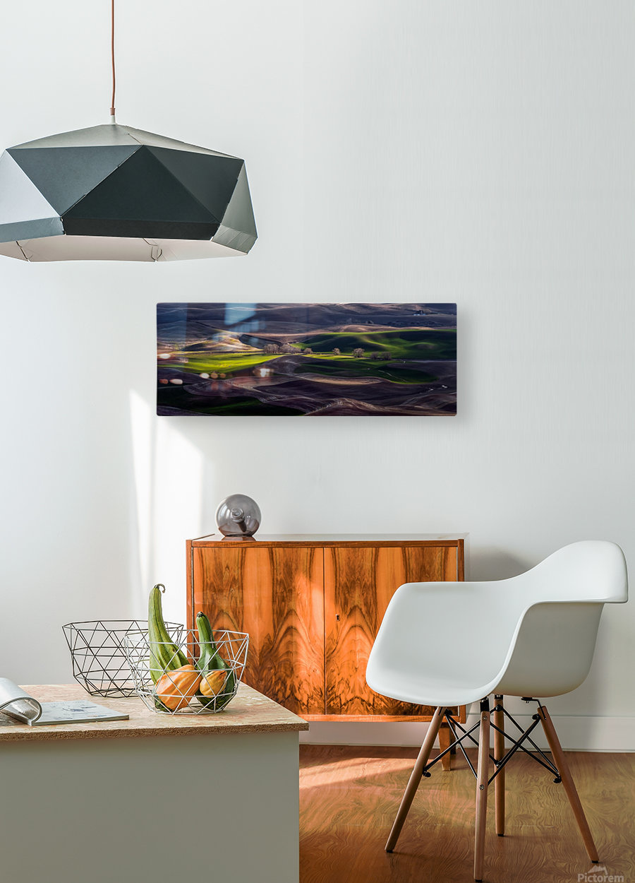 Last Light Of The Day  HD Metal print with Floating Frame on Back