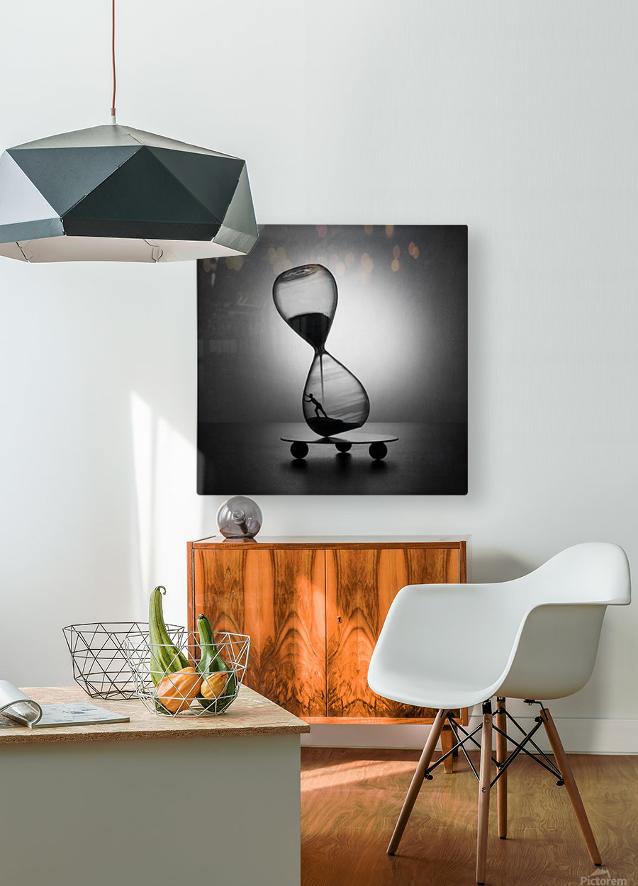 Stop the time  HD Metal print with Floating Frame on Back