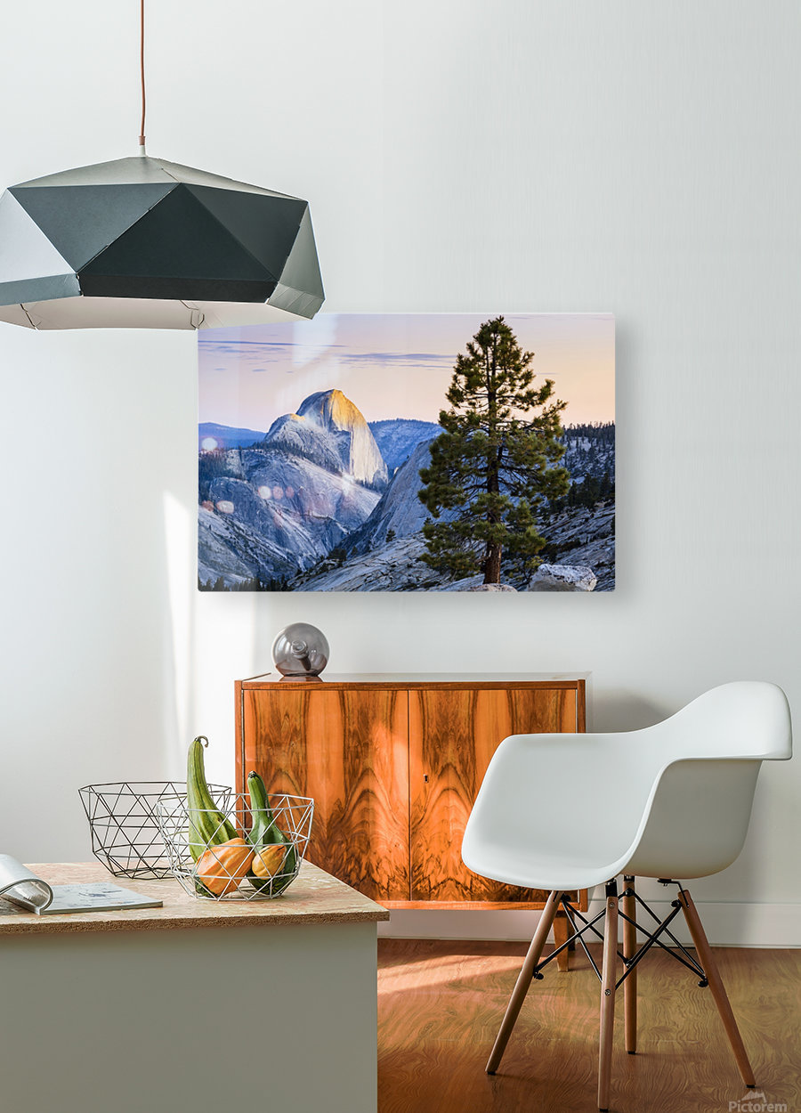 Half Dome seen from Olmsted Point, Yosemite National Park; California, United States of America  HD Metal print with Floating Frame on Back