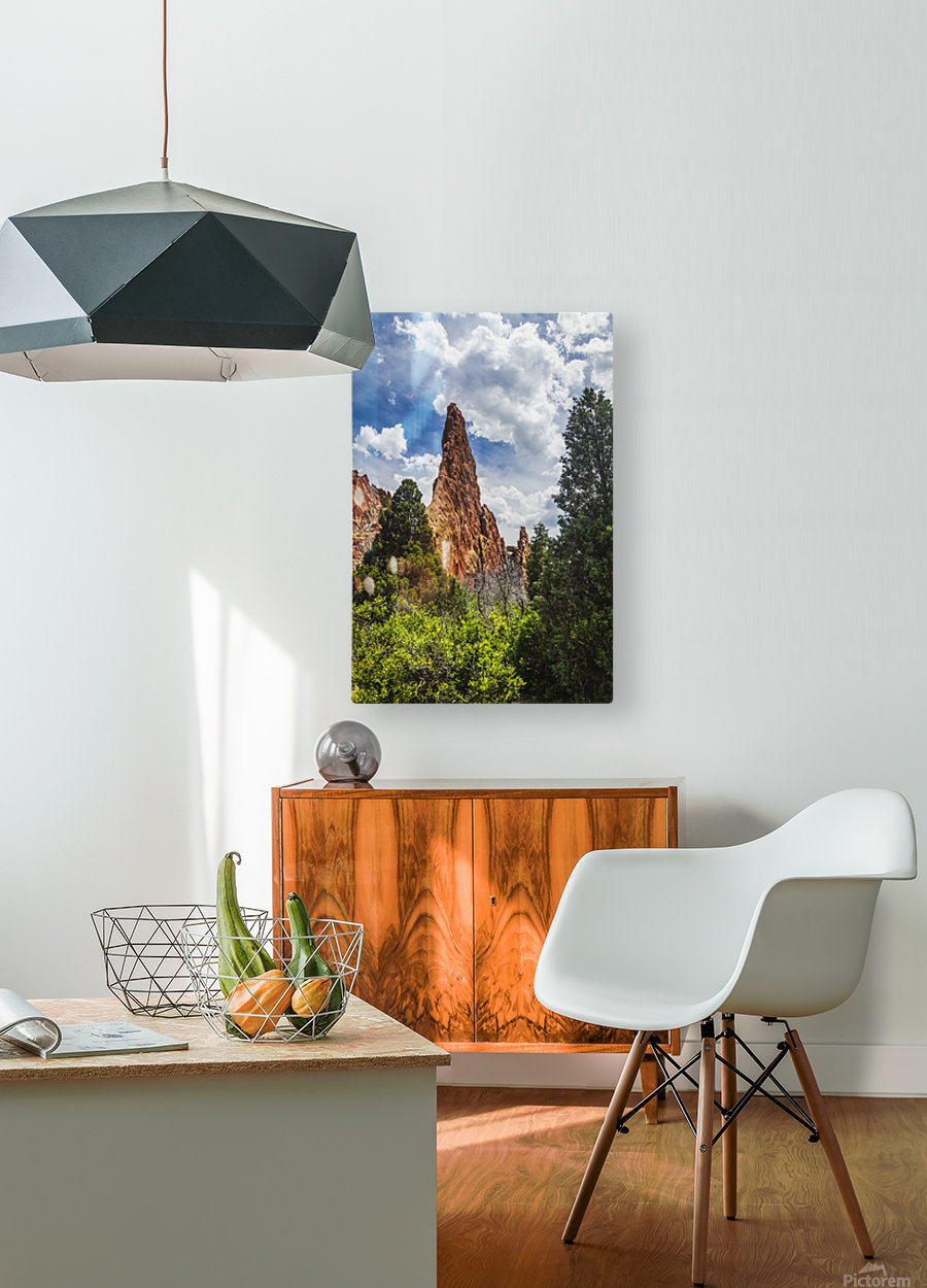 Garden of the Gods; Colorado Springs, Colorado, United States of America  HD Metal print with Floating Frame on Back