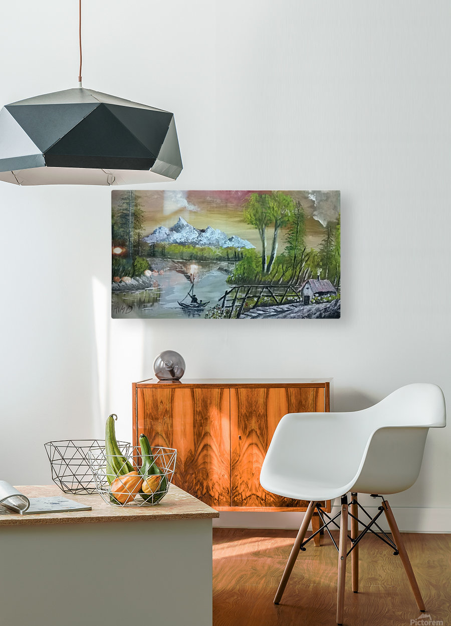 lovely sunset  HD Metal print with Floating Frame on Back
