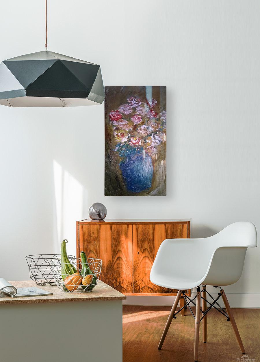 flowers vase  HD Metal print with Floating Frame on Back