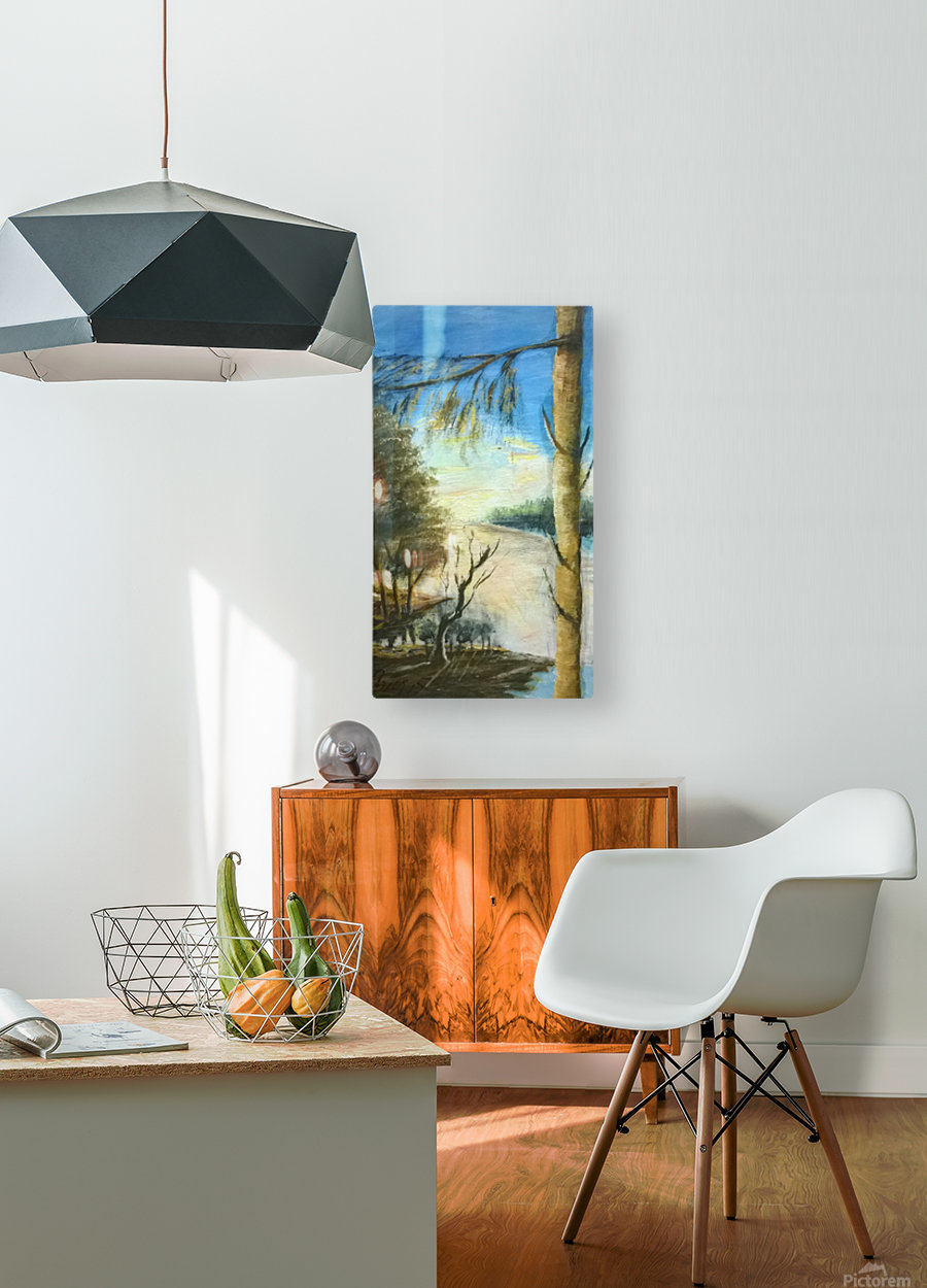 stand tree  HD Metal print with Floating Frame on Back