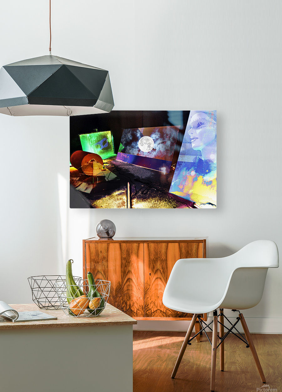 Mysterious Night  HD Metal print with Floating Frame on Back