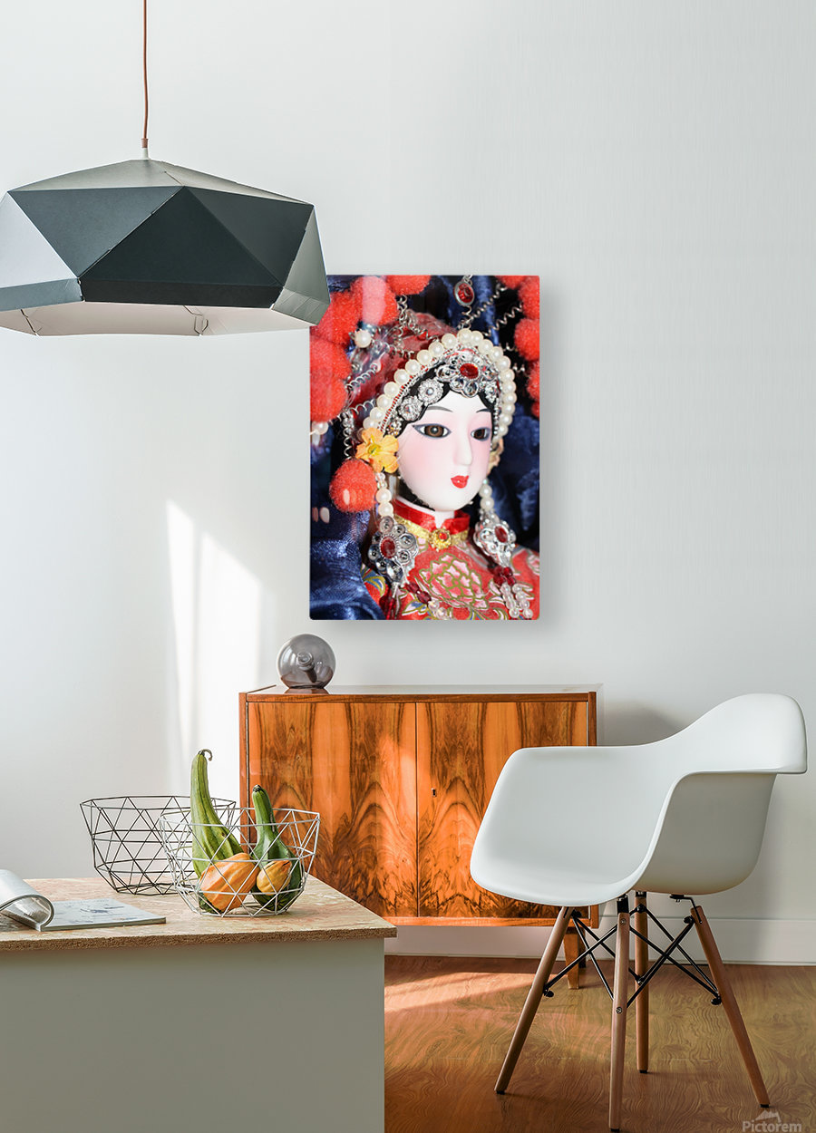 Peking Opera Doll  HD Metal print with Floating Frame on Back