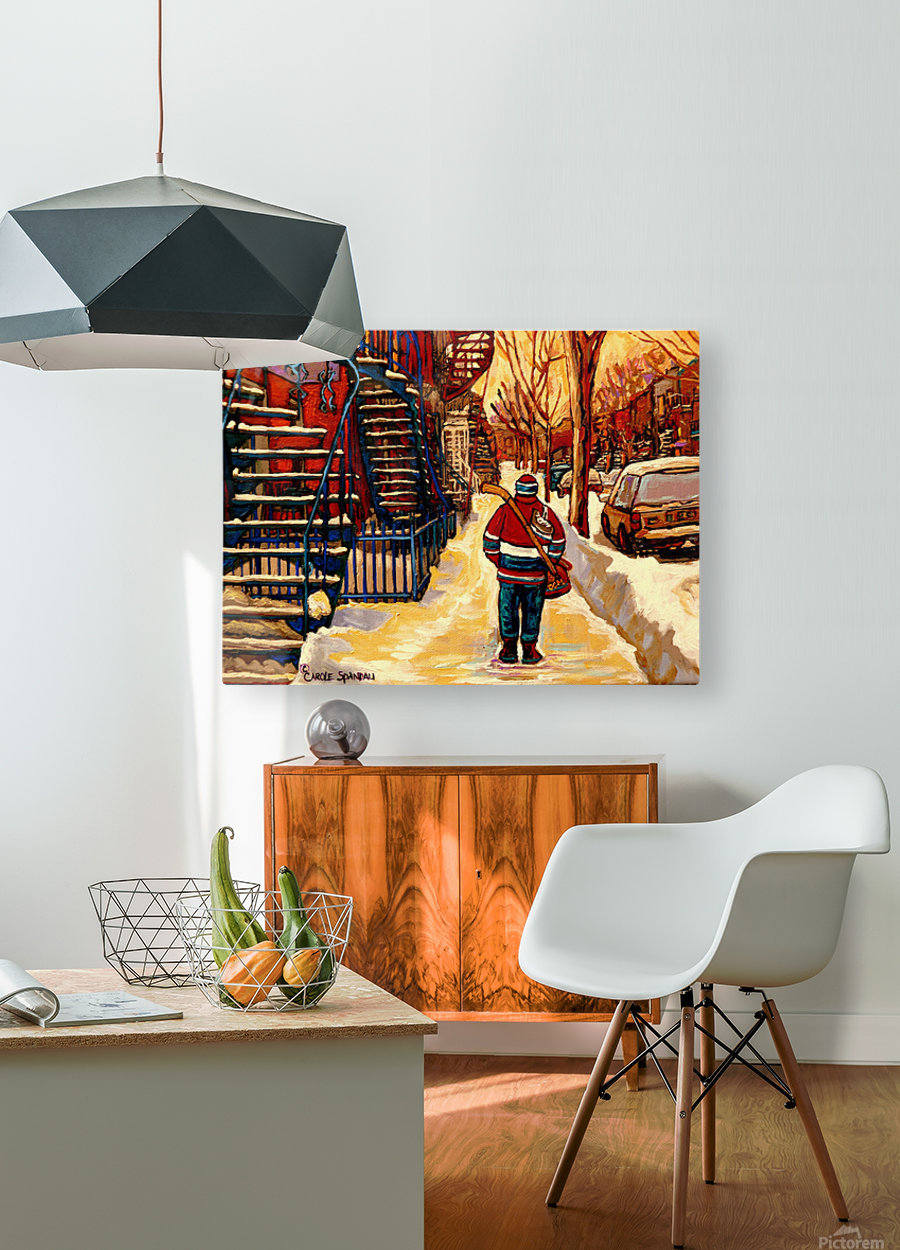 AFTER THE HOCKEY GAME  HD Metal print with Floating Frame on Back