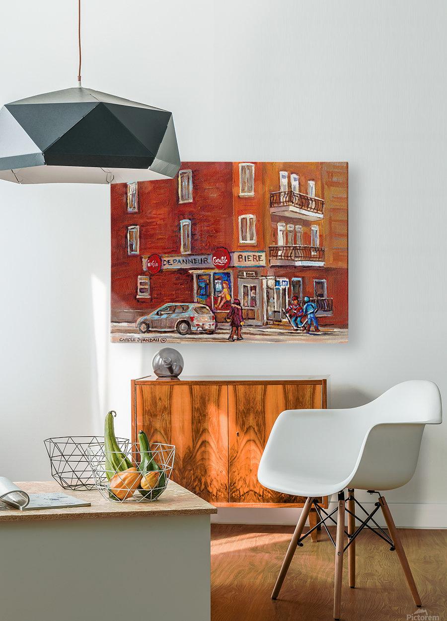 CAROLE SPANDAU  DEPANNEUR BIERE  HD Metal print with Floating Frame on Back