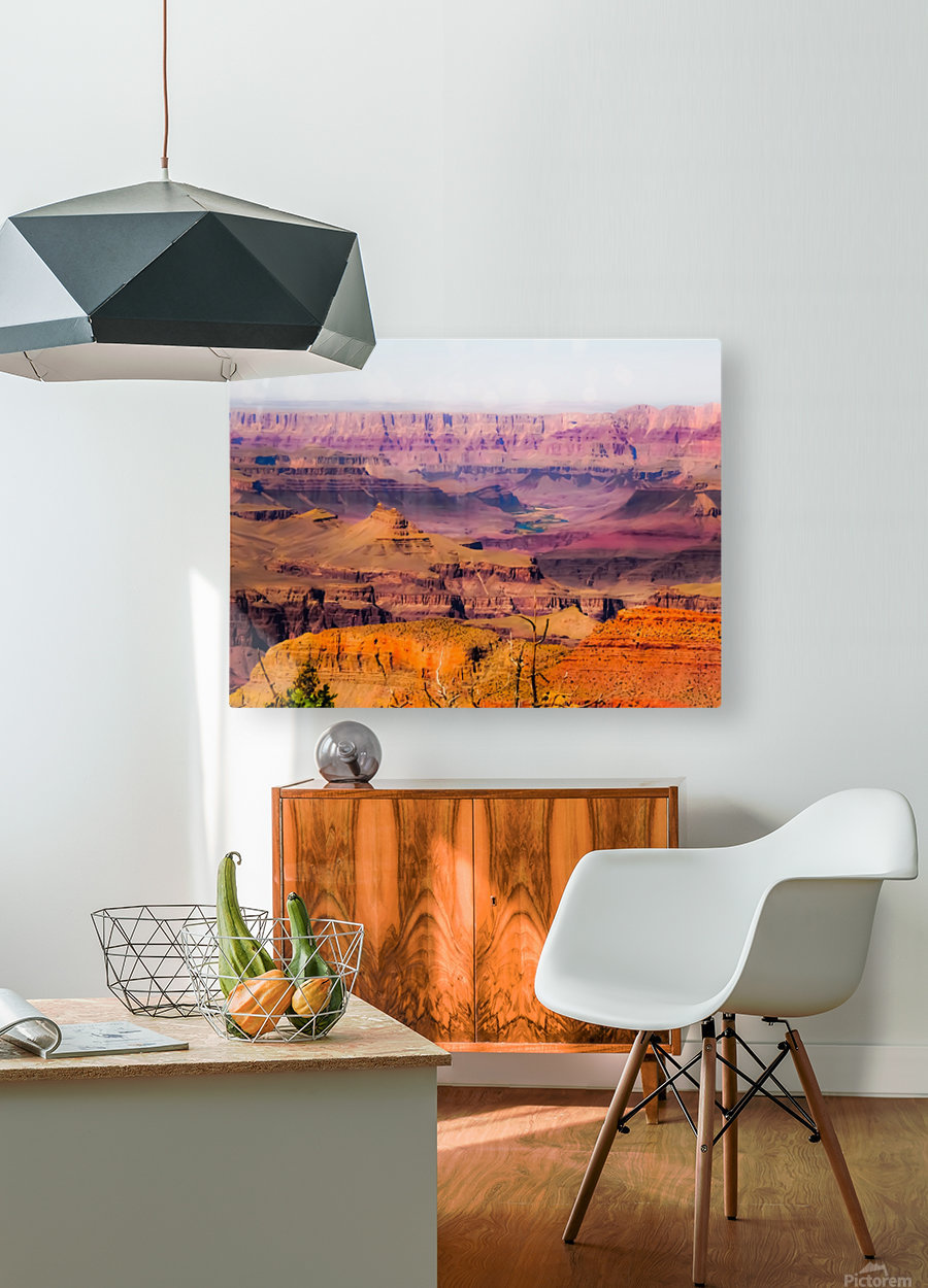 desert view at Grand Canyon national park, USA  HD Metal print with Floating Frame on Back