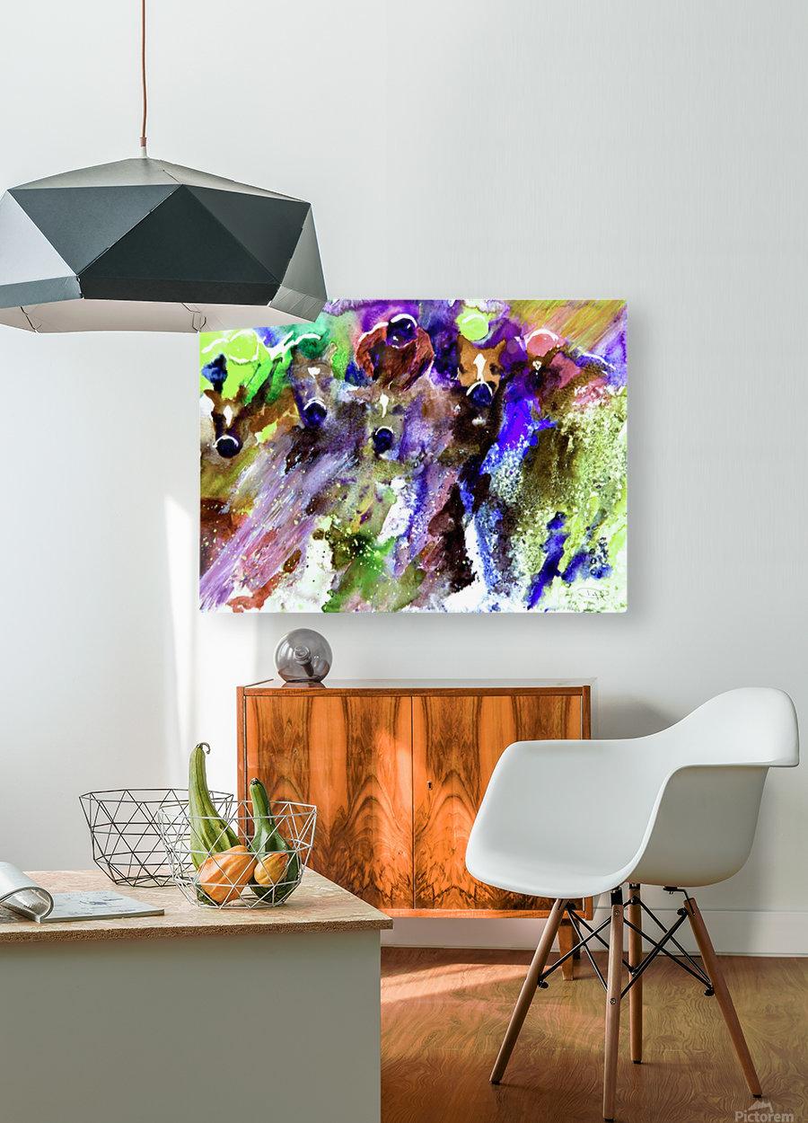 Winning Streak   HD Metal print with Floating Frame on Back
