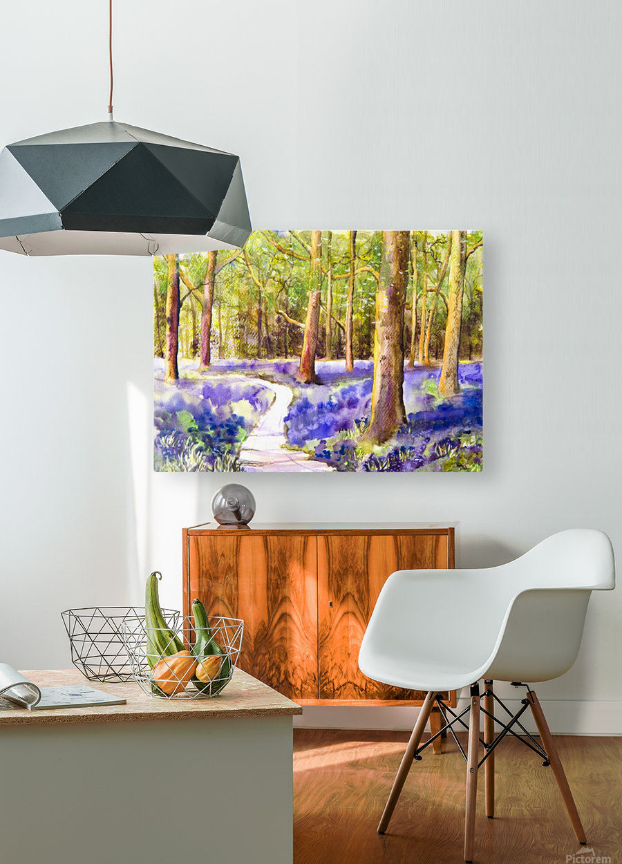 Bluebell Wood   HD Metal print with Floating Frame on Back