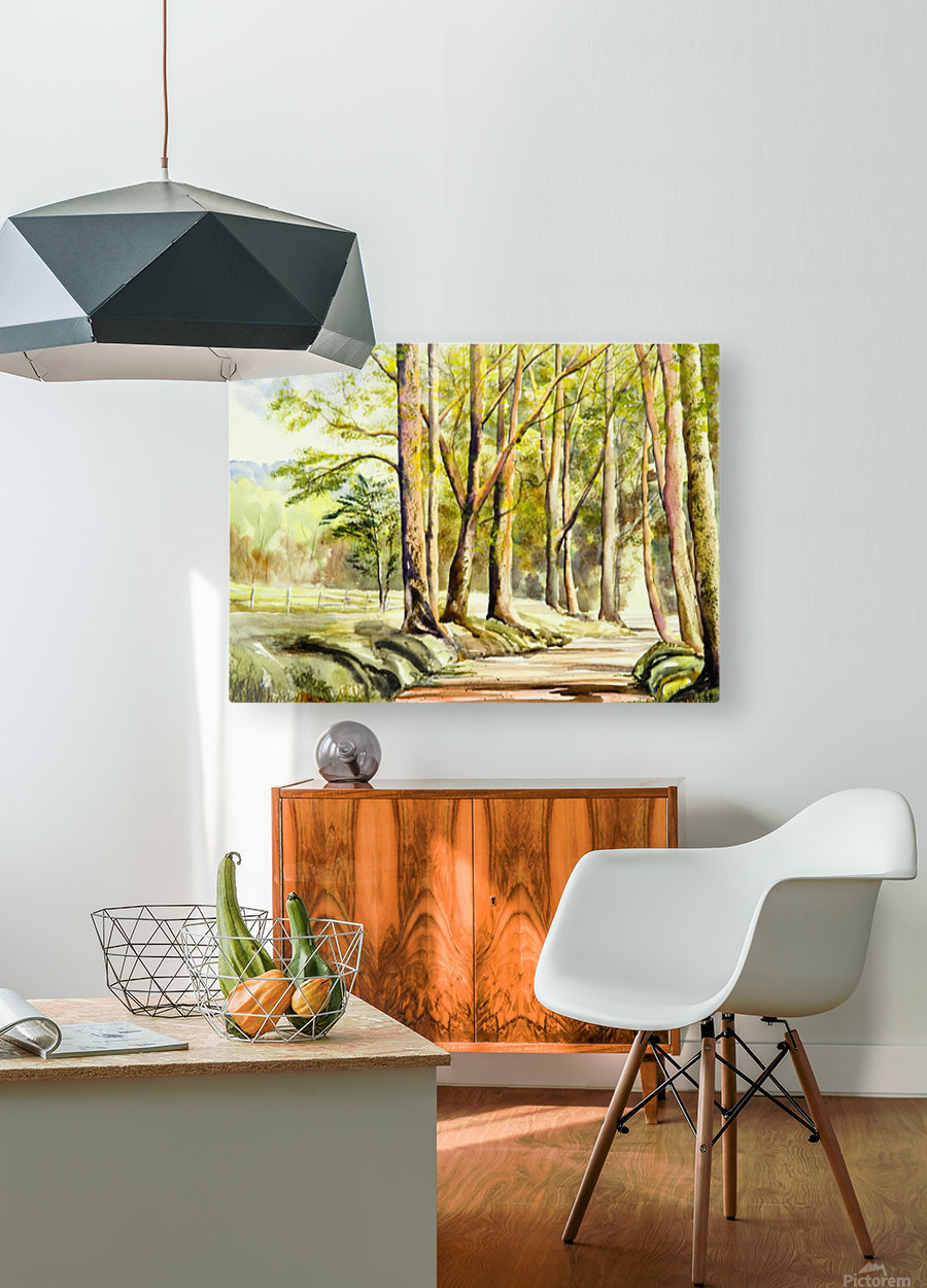 Shady Lane   HD Metal print with Floating Frame on Back