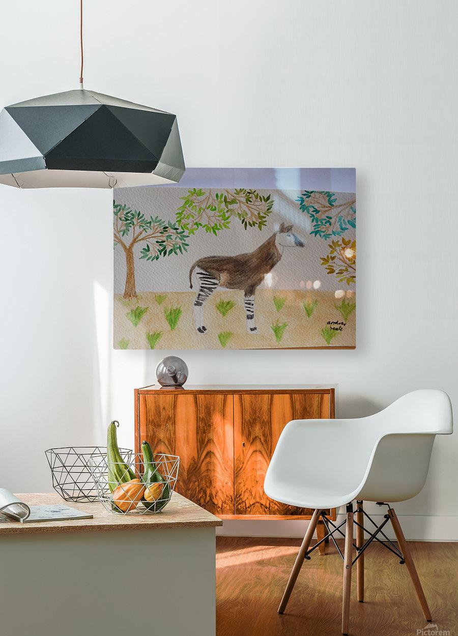 Okapi  HD Metal print with Floating Frame on Back