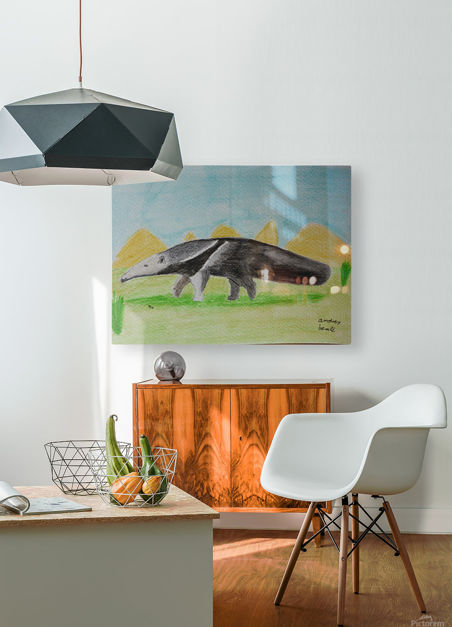 Anteater  HD Metal print with Floating Frame on Back