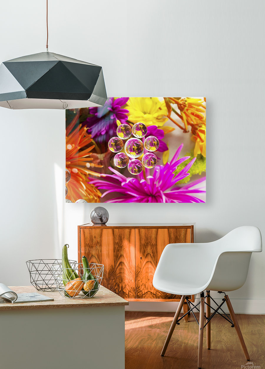 FLOWERS REFRACTION 9  HD Metal print with Floating Frame on Back