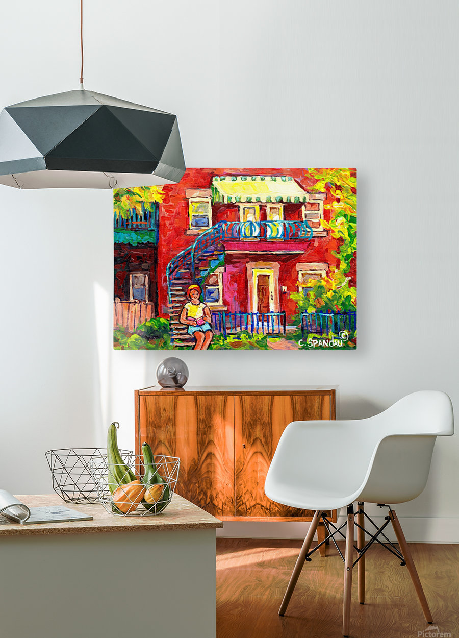 MONTREAL STAIRCASE SCENE  HD Metal print with Floating Frame on Back