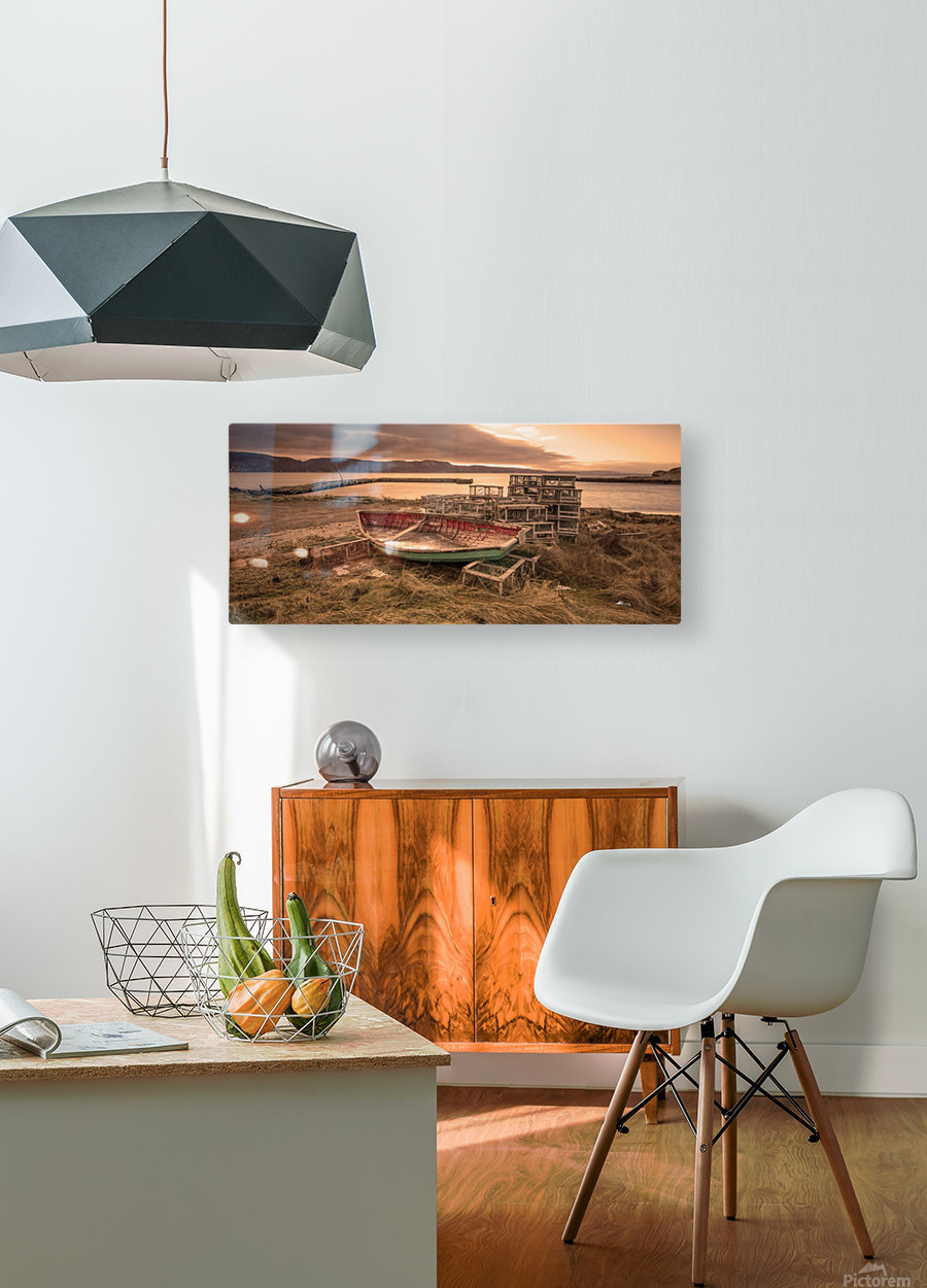 La Pointe- warm  HD Metal print with Floating Frame on Back