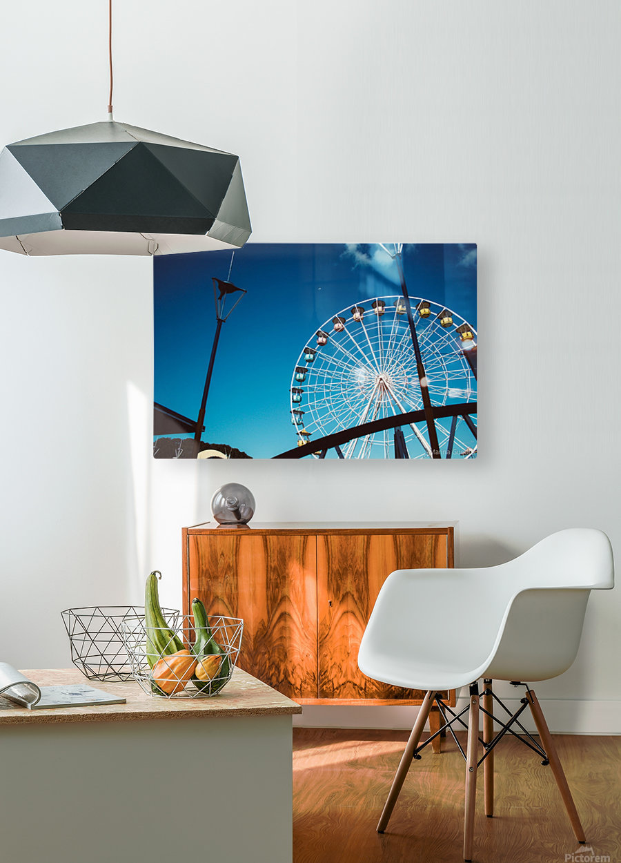 Ferris wheel  HD Metal print with Floating Frame on Back