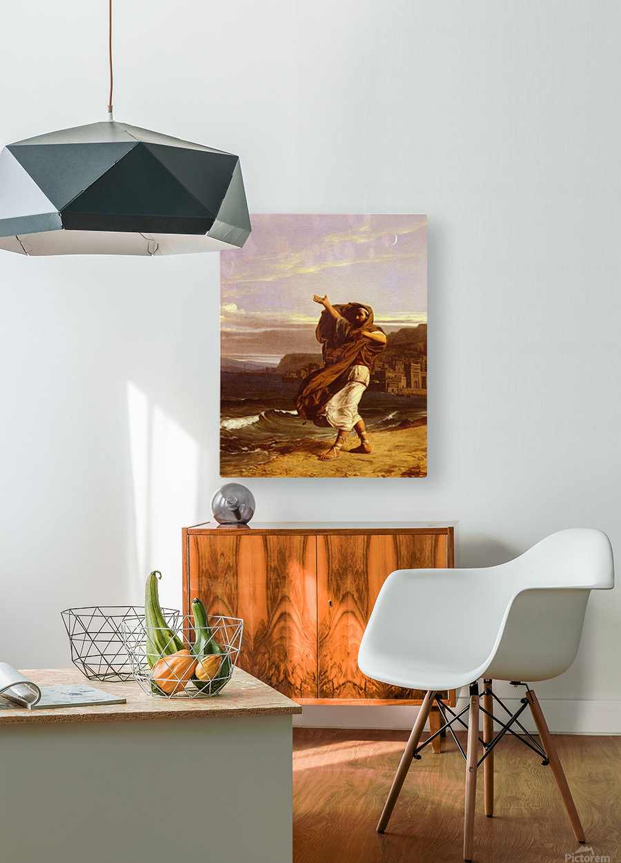 Demosthene practices  HD Metal print with Floating Frame on Back