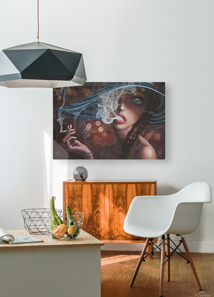 Enter The Void  HD Metal print with Floating Frame on Back
