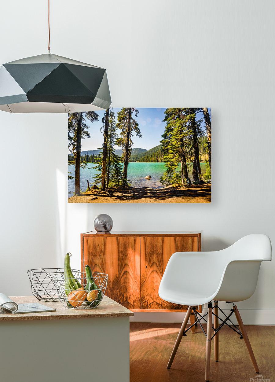Devil's Lake  HD Metal print with Floating Frame on Back