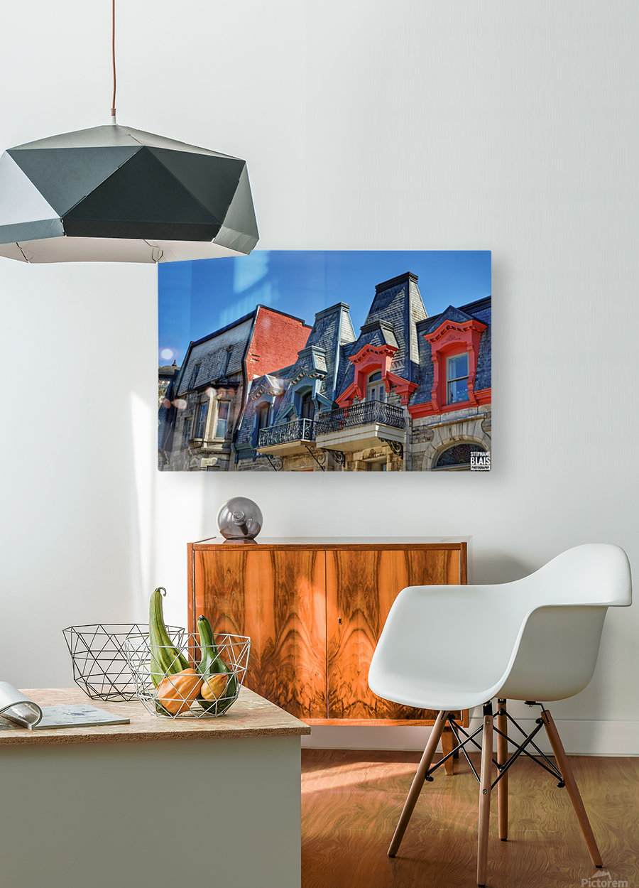 Montreal Rooftops  HD Metal print with Floating Frame on Back