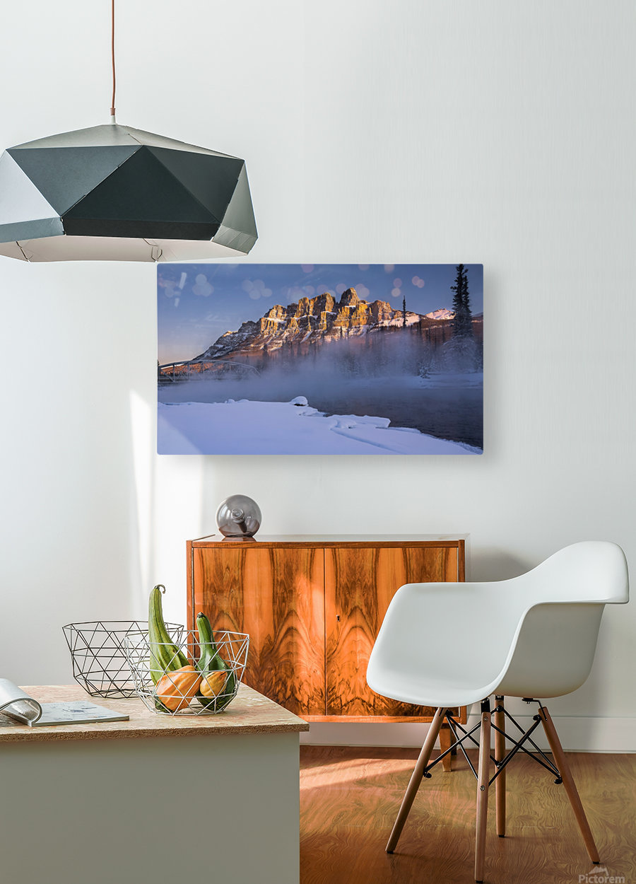 Castle morning  HD Metal print with Floating Frame on Back