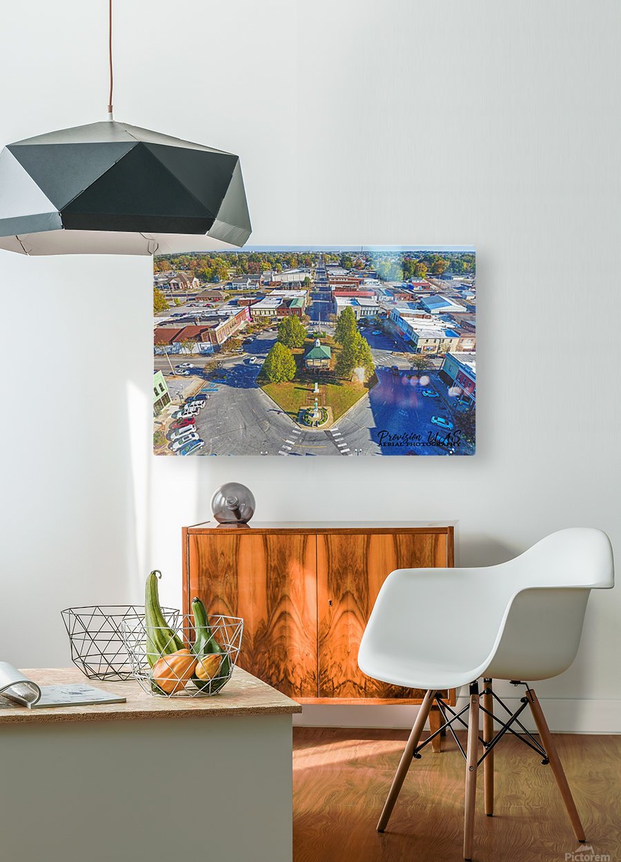 Lawrenceburg, TN | The Old Square  HD Metal print with Floating Frame on Back