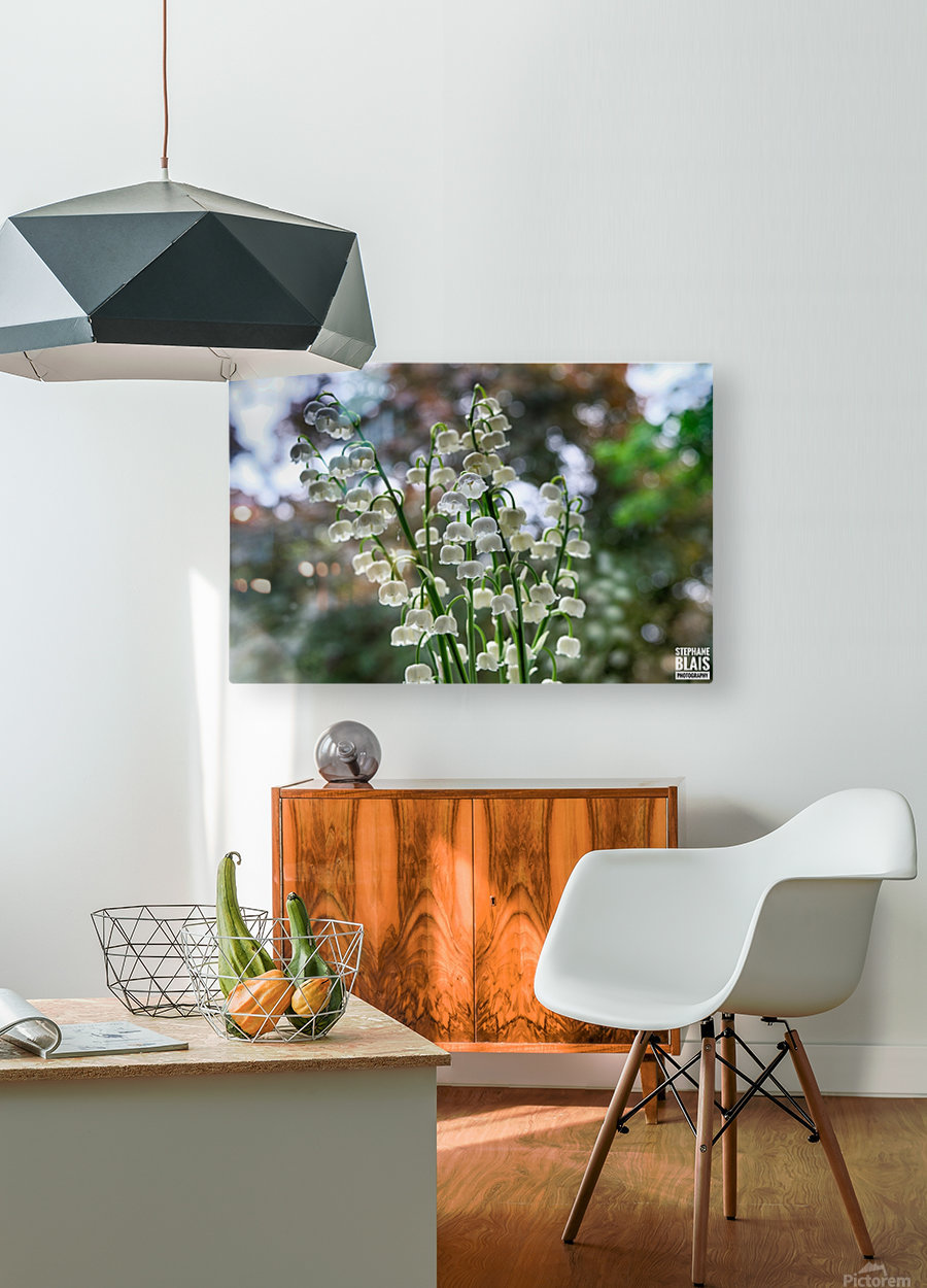 Thrush Flowers  HD Metal print with Floating Frame on Back