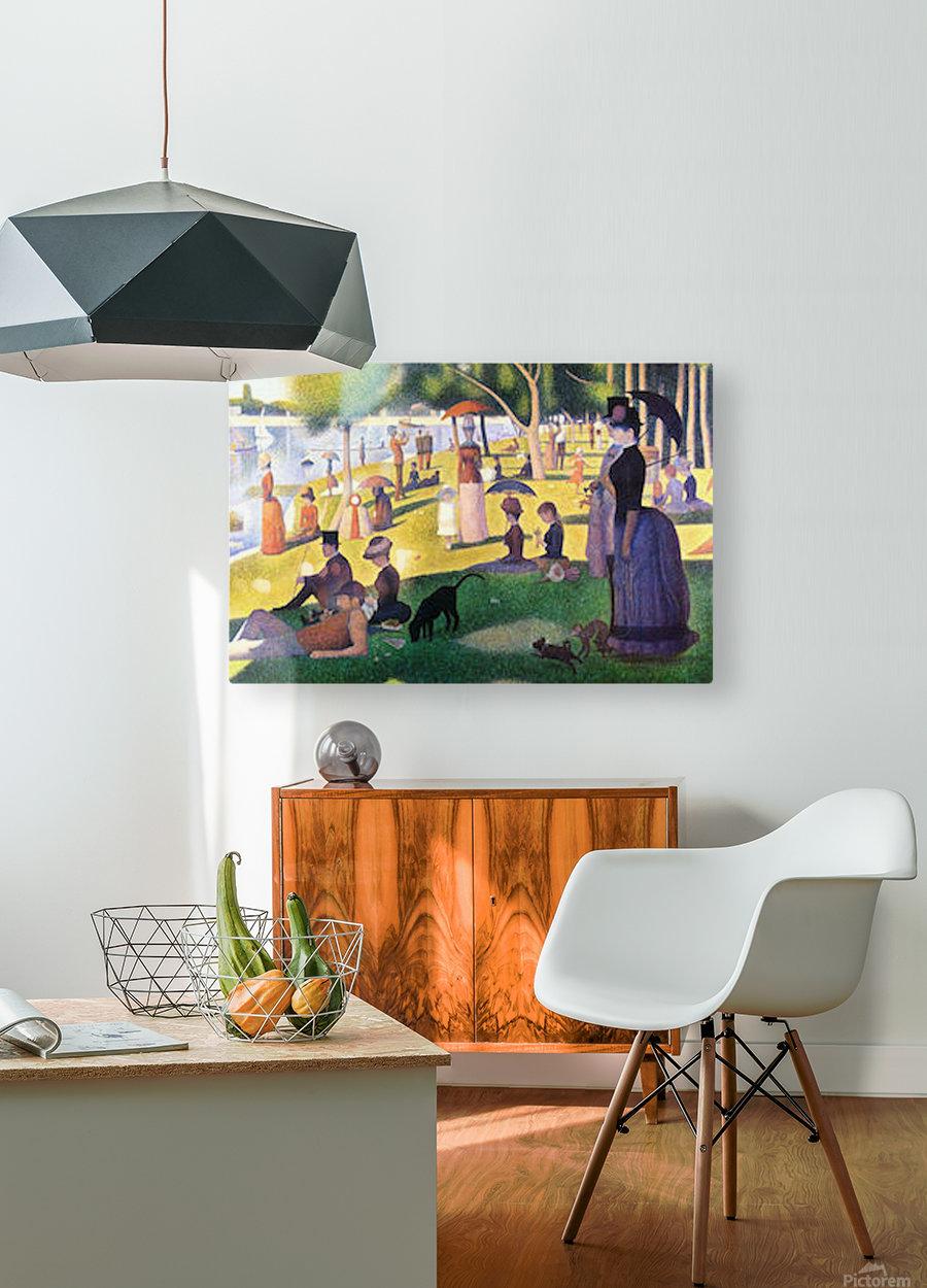 Sunday at La Grande Jatte by Seurat  HD Metal print with Floating Frame on Back