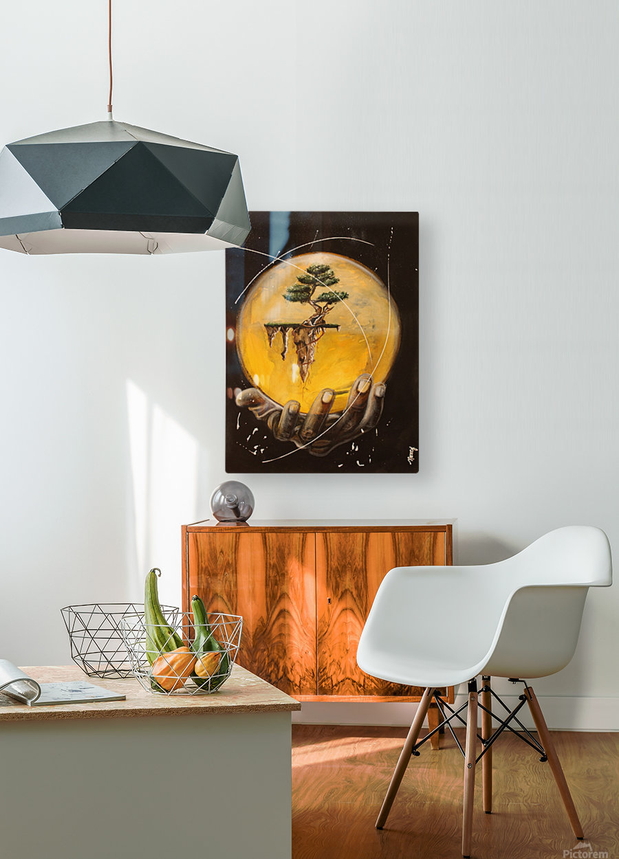 Créer  HD Metal print with Floating Frame on Back