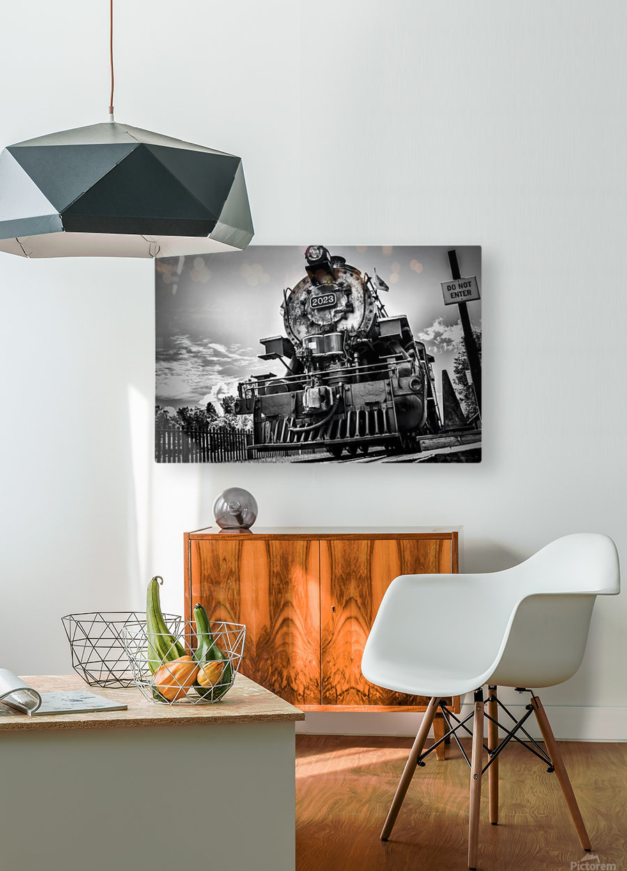 Heritage Train  HD Metal print with Floating Frame on Back
