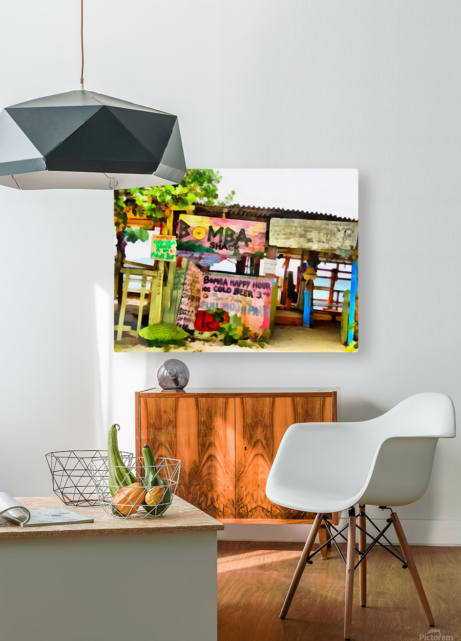 The Shack  HD Metal print with Floating Frame on Back