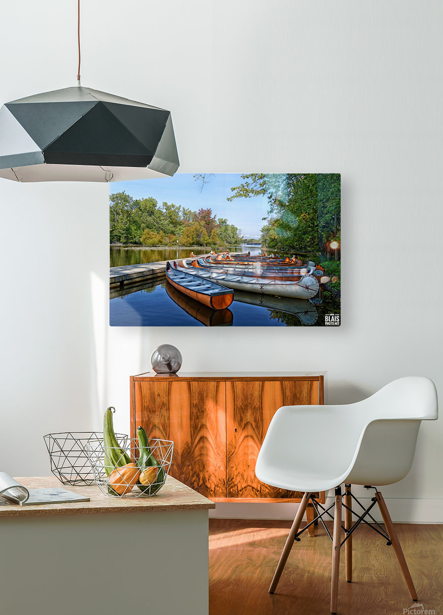 Canoes  HD Metal print with Floating Frame on Back