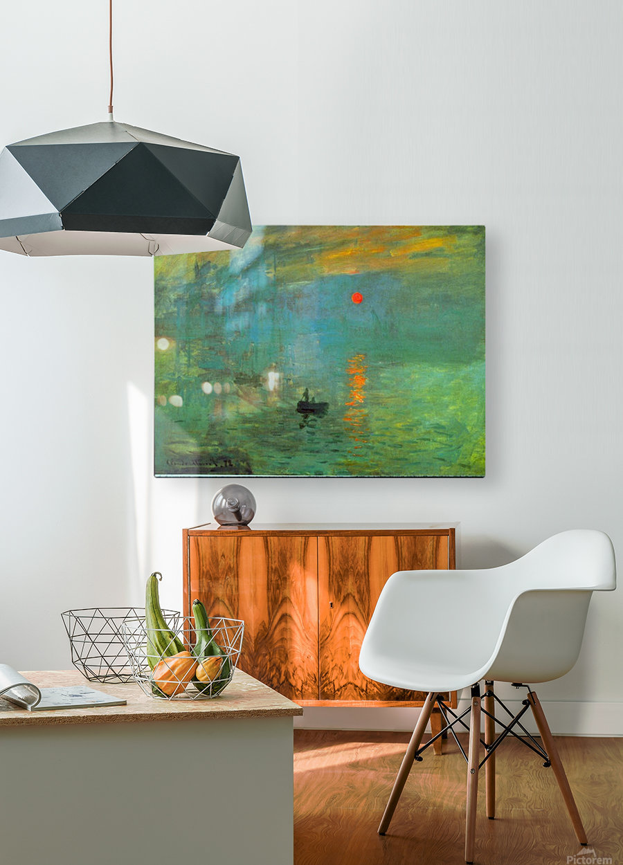 Sunrise by Monet  HD Metal print with Floating Frame on Back