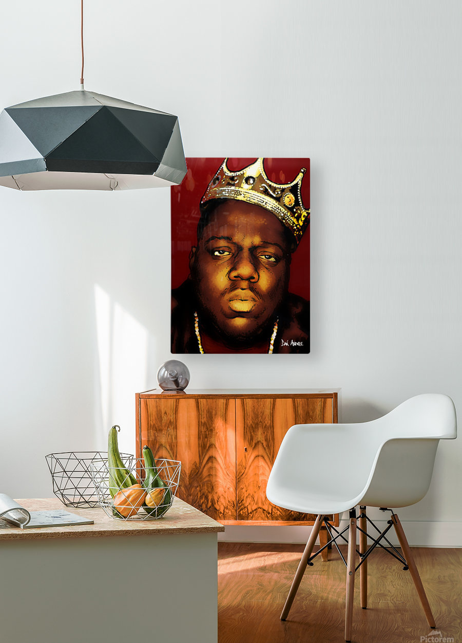 Biggie Smalls aka Notorious B.I.G  HD Metal print with Floating Frame on Back