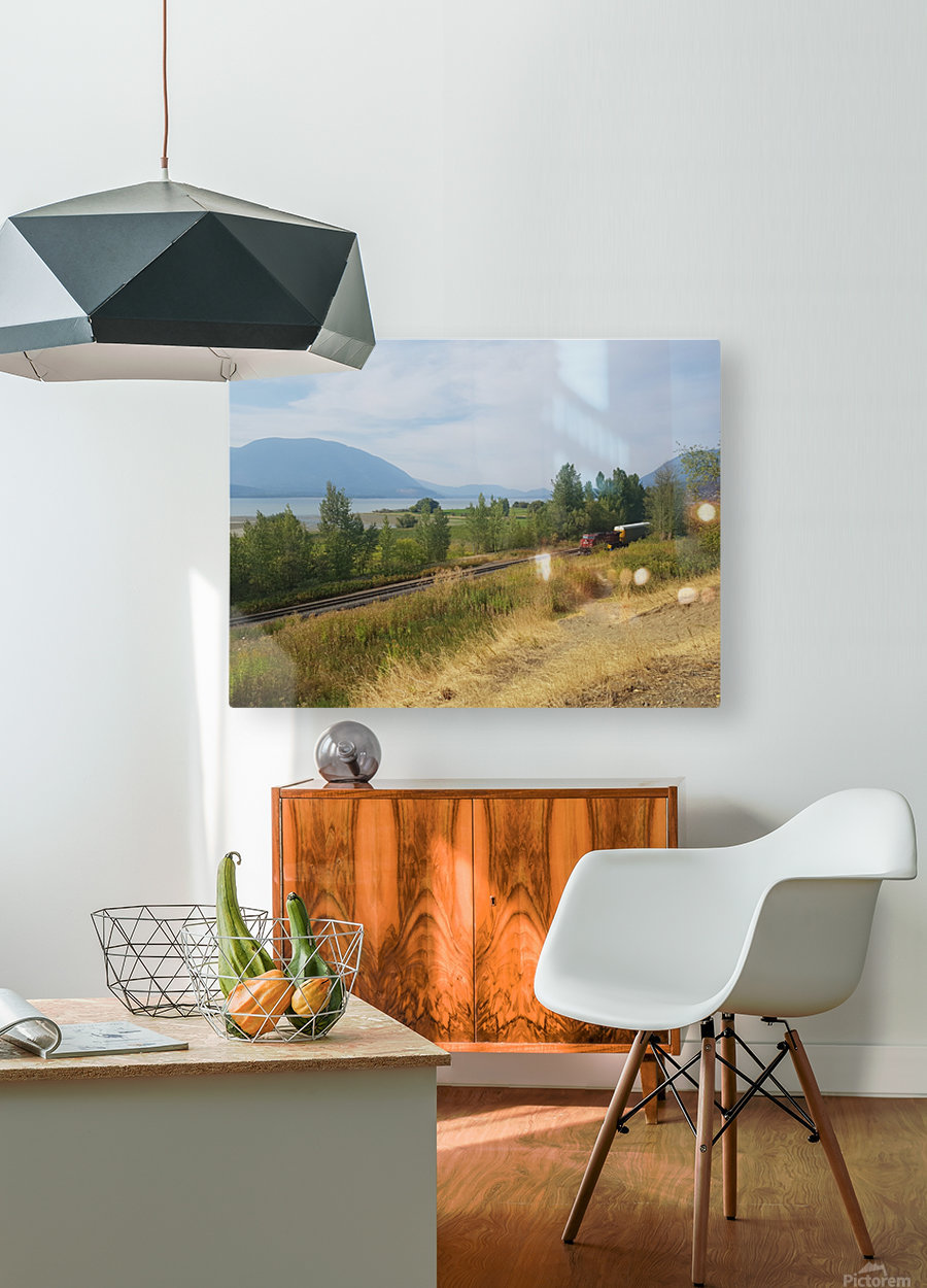 Smoky Mountains  HD Metal print with Floating Frame on Back