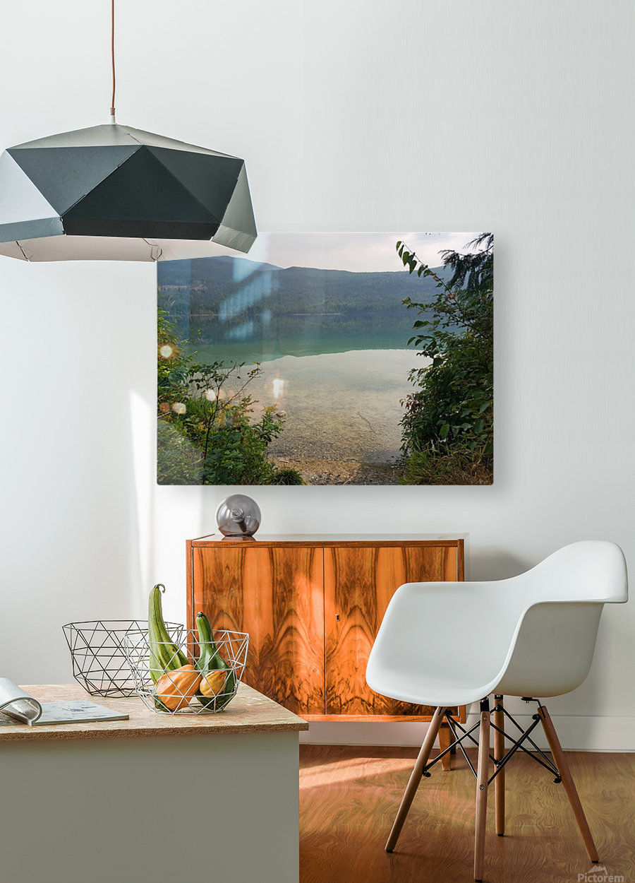 Crystal Clear White Lake  HD Metal print with Floating Frame on Back