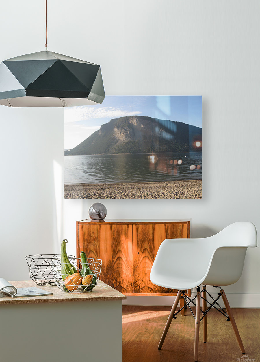 Mount Ida On The Beach  HD Metal print with Floating Frame on Back