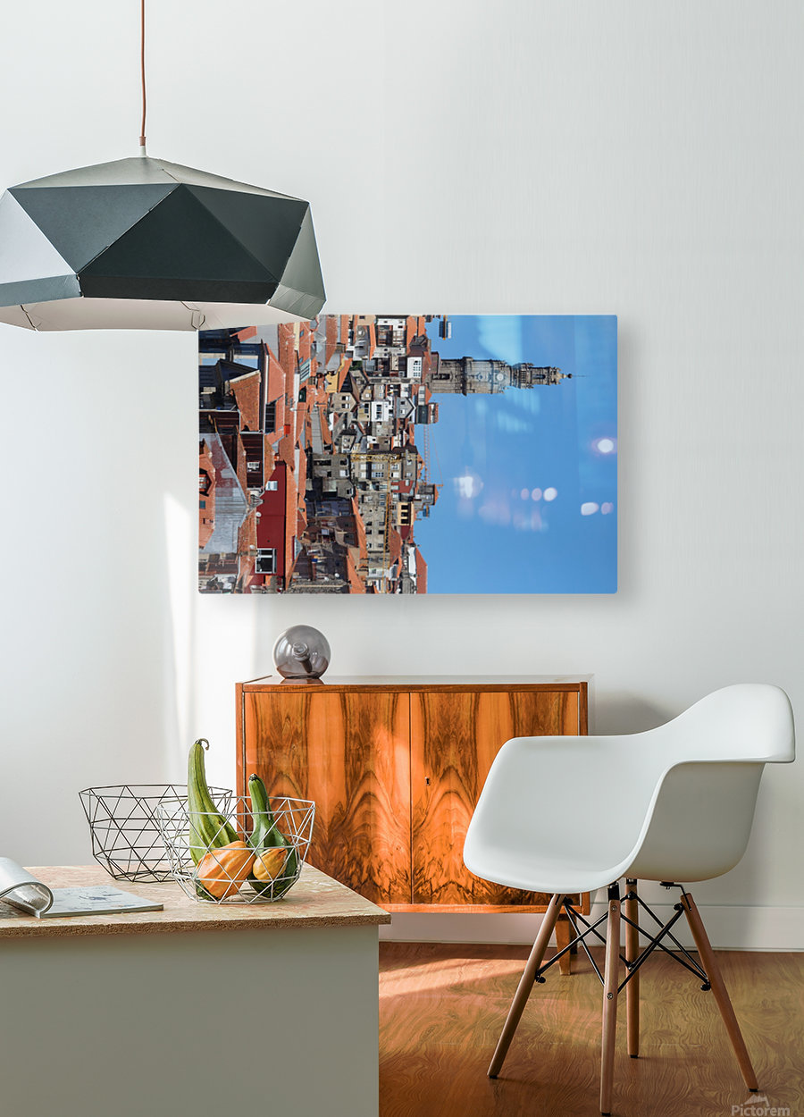Oporto City the Clerigos Tower  HD Metal print with Floating Frame on Back